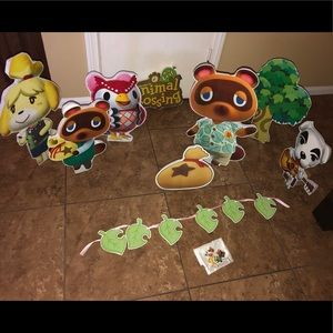 "Styrofoam ""Animal Crossing"" party figures."